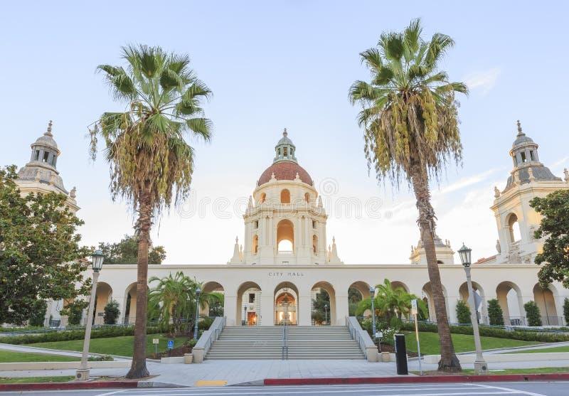 Hermoso ayuntamiento Pasadena cerca de Los Ángeles, California imágenes de archivo libres de regalías