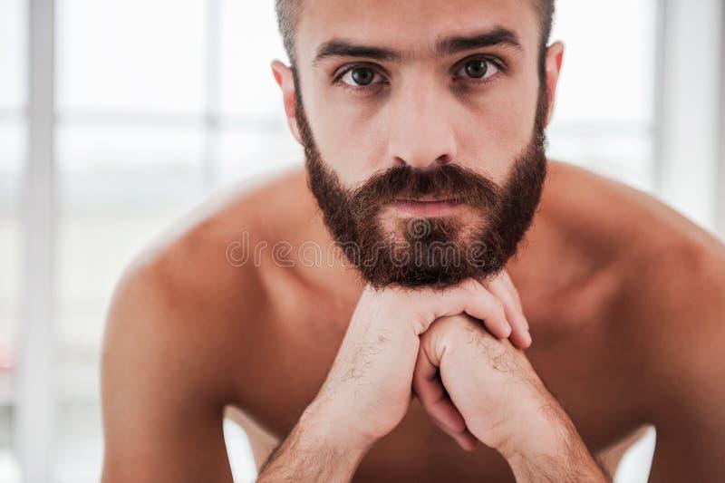 Hermoso barbudo imagen de archivo