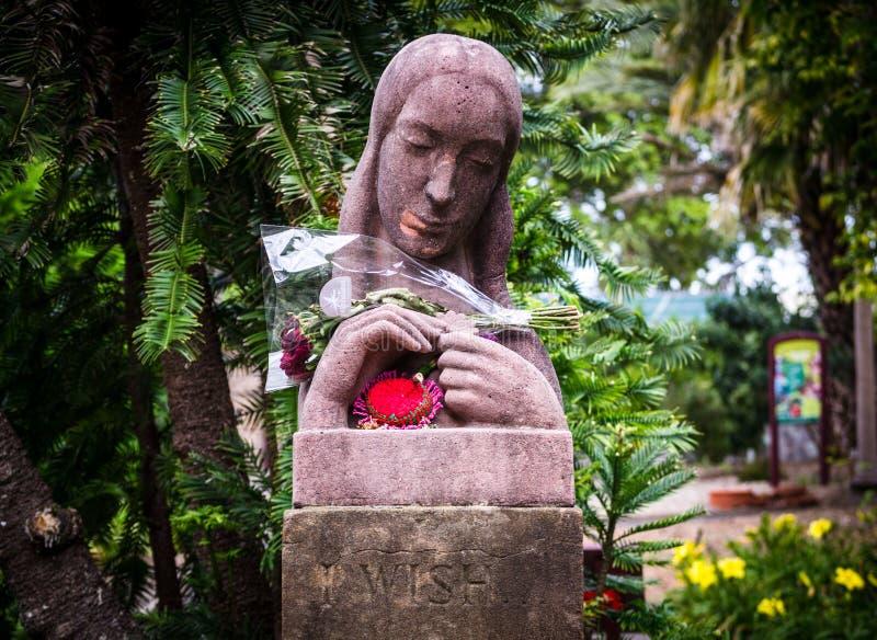` Hermoso de la señora deseo el ` esculpido por Arthur Fleischmann 1896-1990 presentado a los jardines botánicos reales Sydney imagen de archivo