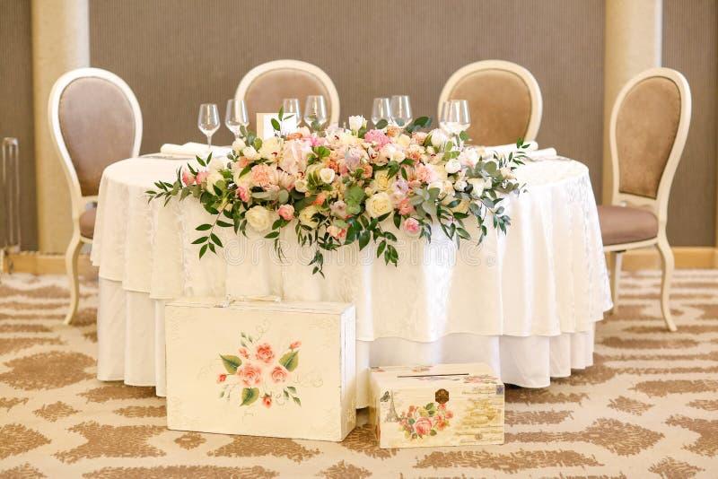 Hermoso diseño para la ceremonia de boda imagen de archivo