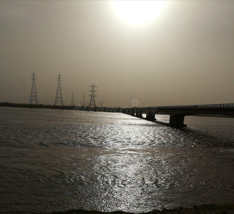 Hermoso visto del río imagen de archivo libre de regalías