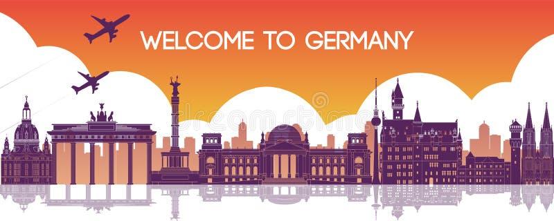 Hermoso y realista punto de referencia famoso de Alemania,destino de viaje libre illustration