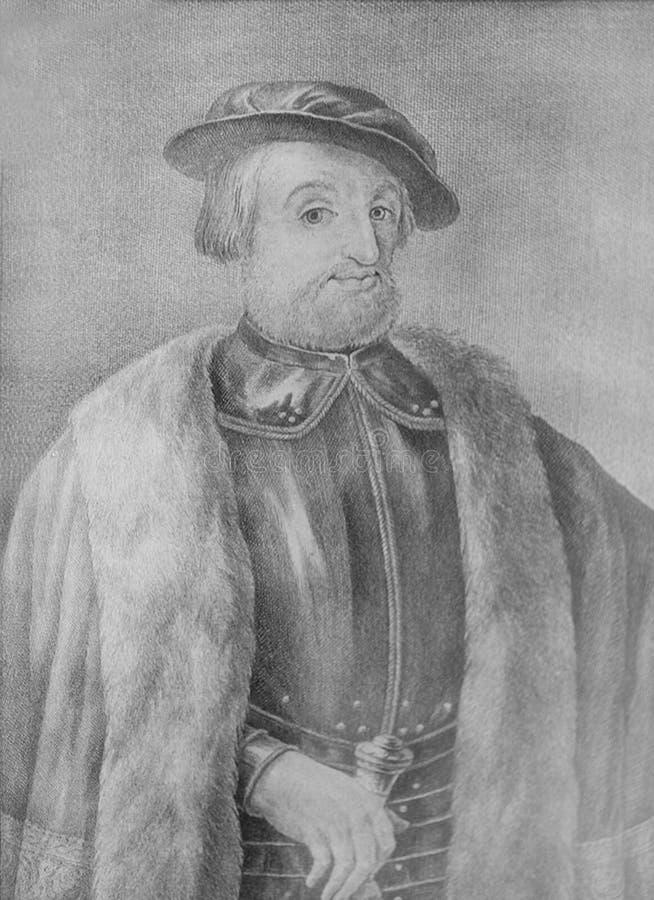 Hernan Cortes portret obrazy stock