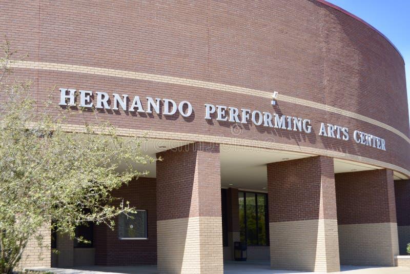 Hernando Performing Arts Center, Desoto County Mississippi fotos de stock