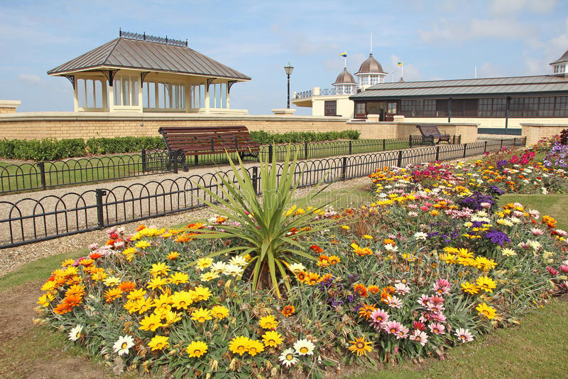 Herne zatoki pomnika bandstand i ogródy obraz royalty free