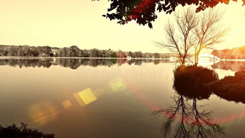 Herneacova Lake stock photography