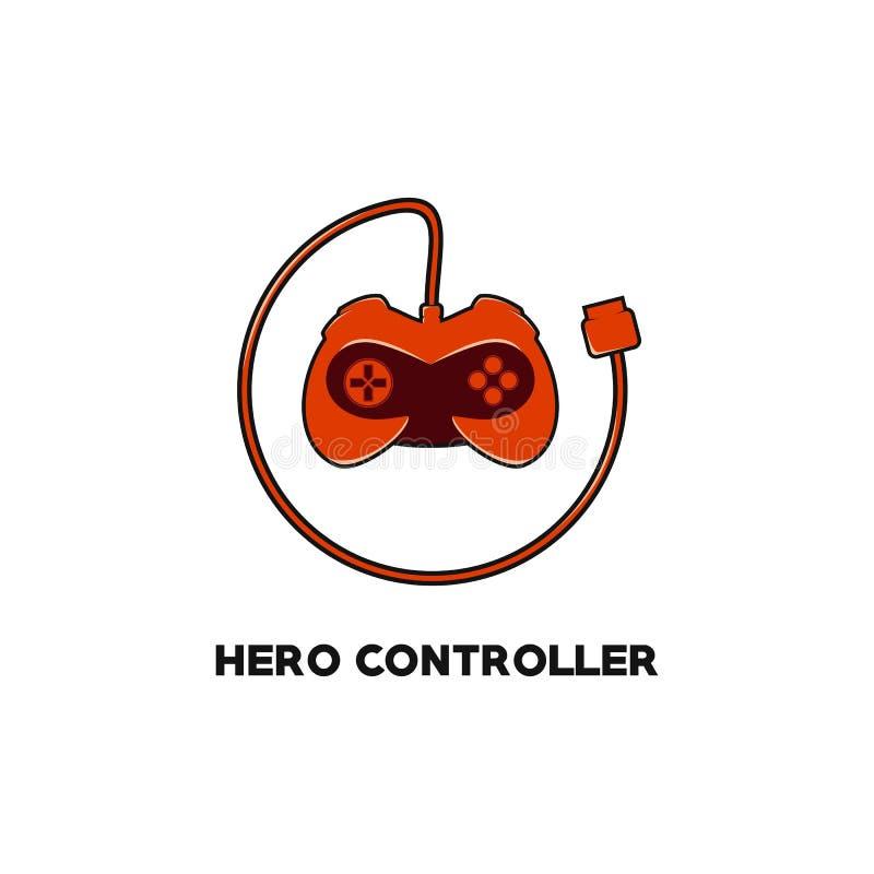 Hero controller game logo vector royalty free illustration