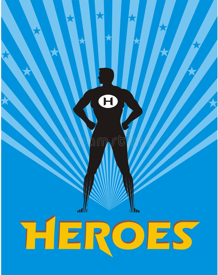 Download Hero illustration stock vector. Image of design, guardian - 4348328