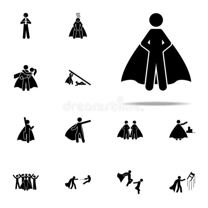 Hero, superhero icon. hero icons universal set for web and mobile. On white background vector illustration