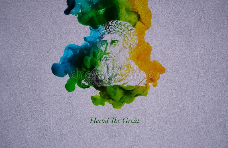 King Herod the Great. Herod, also known as Herod the Great and Herod I, was a Roman client king of Judea, referred to as the Herodian kingdom stock illustration