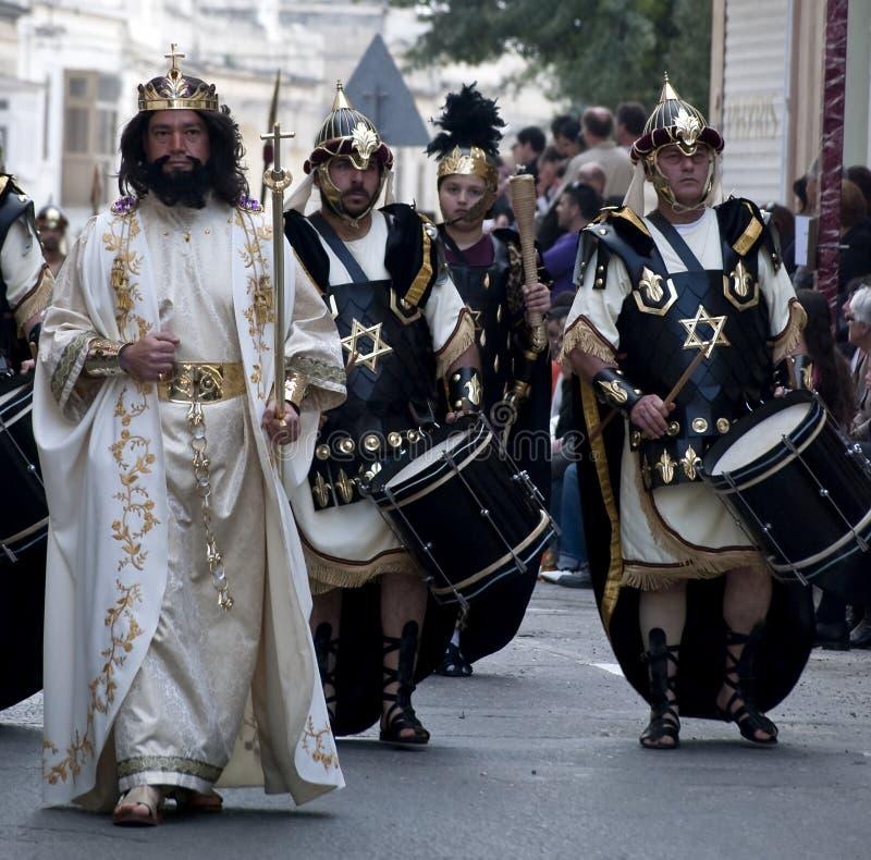 Herod en Militairen stock afbeelding