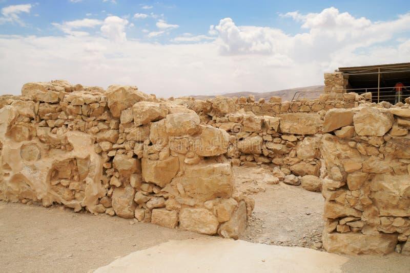 Herod's fortress ruins royalty free stock photos