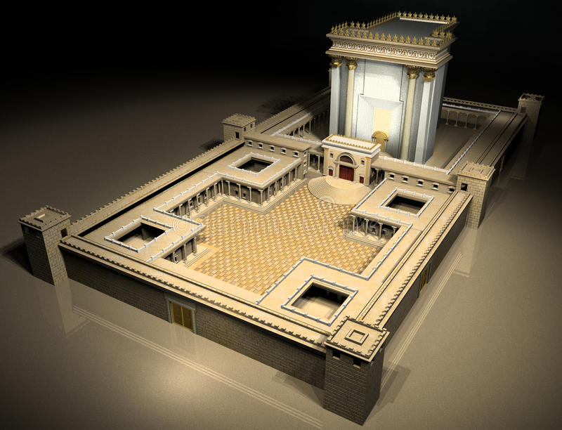 herodian tempel arkivbilder