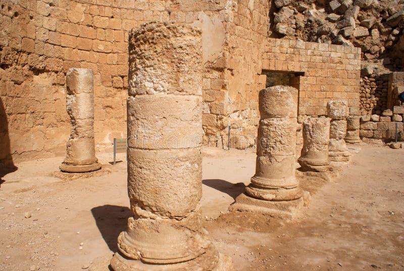 Herodion Ruinen in Israel stockbild