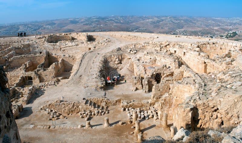 Herodium, fortaleza antiga. fotos de stock royalty free