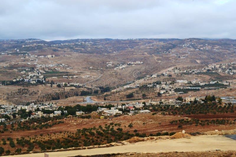 Herodium Herodion, крепость Herod большая, взгляд палестинской автономии, westbank, Палестины, Израиля стоковое изображение rf