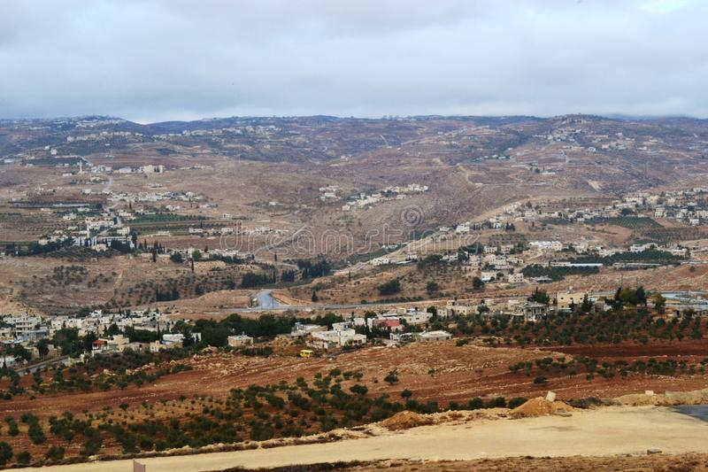 Herodium Herodion, fortaleza de Herod el grande, vista del territorio palestino, westbank, Palestina, Israel imagen de archivo libre de regalías