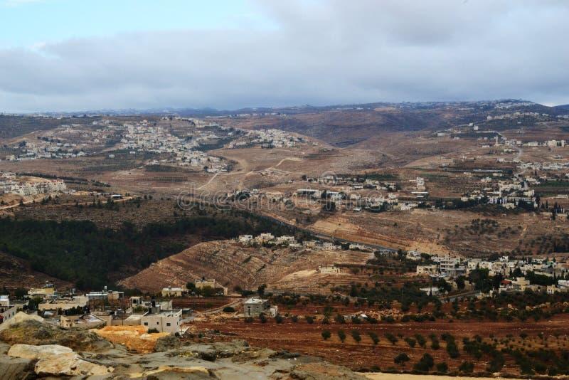 Herodium Herodion, fortaleza de Herod el grande, vista del territorio palestino, westbank, Palestina, Israel fotografía de archivo libre de regalías