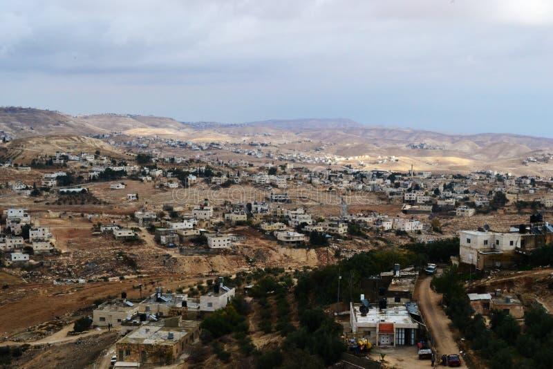 Herodium Herodion, fortaleza de Herod el grande, vista del territorio palestino, westbank, Palestina, Israel fotos de archivo libres de regalías