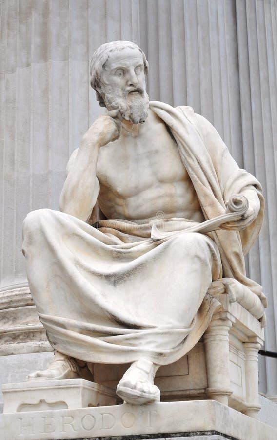 Herodotus staty fotografering för bildbyråer