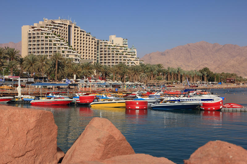 Herods Palace Hotel. Eilat. Israel. stock photography