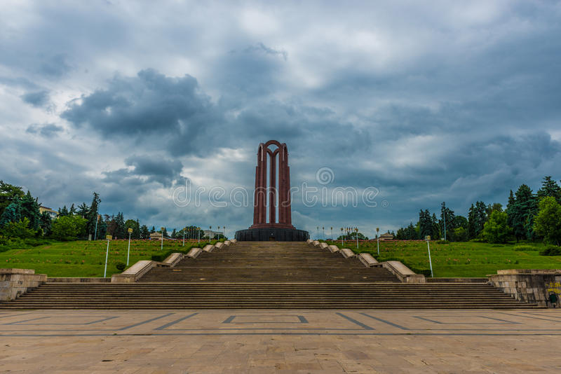 Heroes Monument. From Carol Park In Bucharest, Romania stock photos