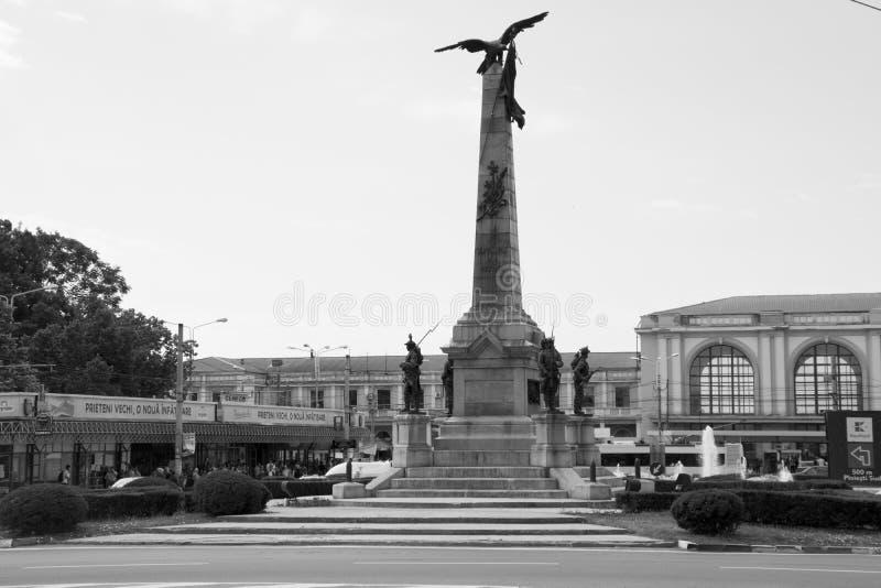 The heroes monument in Ploiesti stock photos
