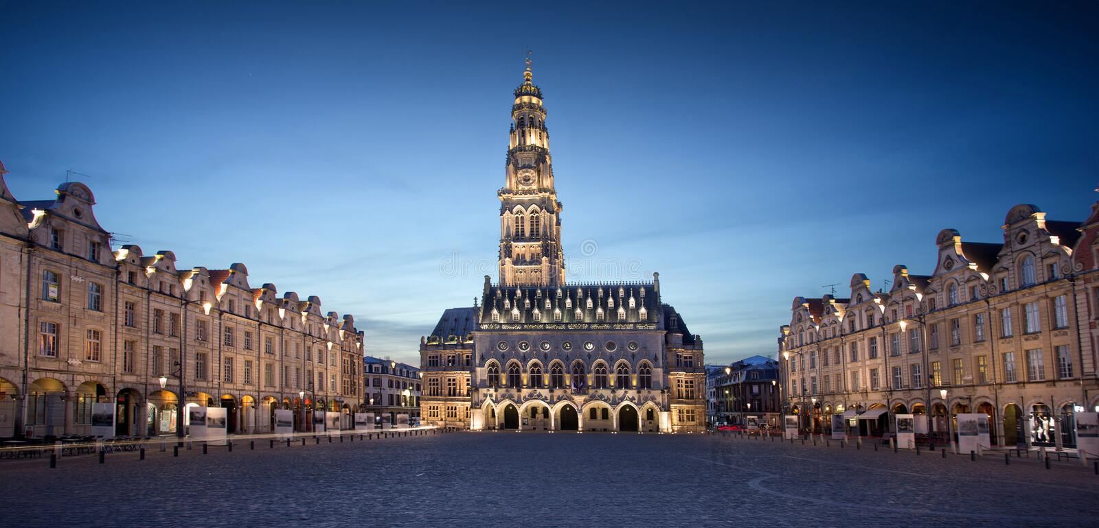 The heroes place in Arras, France. View of the The heroes place in Arras, France stock image