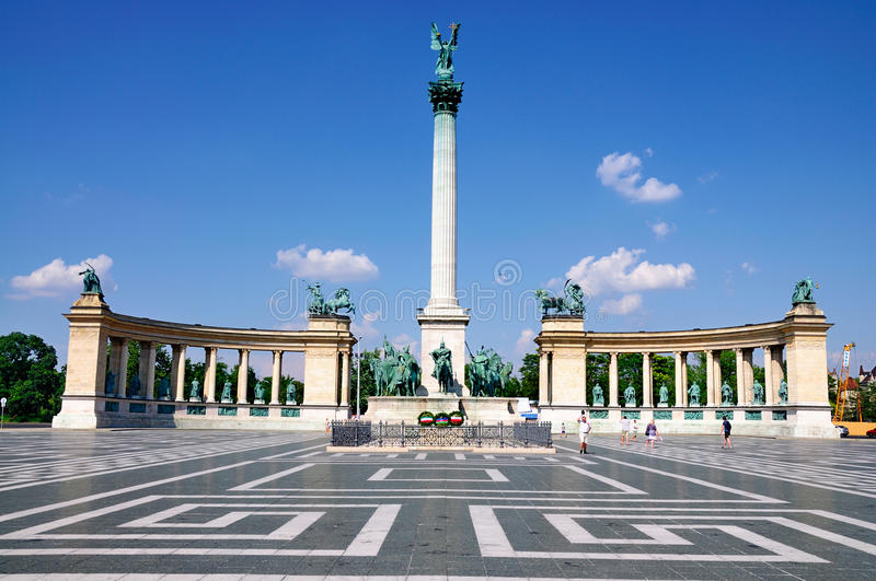 Heroes' Square, Budapest. A picture of Heroe's Square (Hosok Tere) in Budapest, Hungary. It is one of the main sights of the city stock images