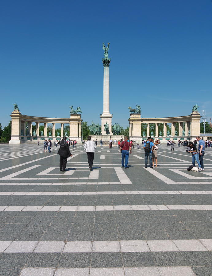 Heroes' Square, Budapest, Hungary royalty free stock photos