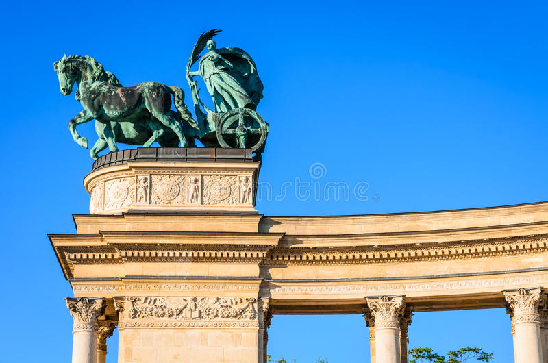 Heroes' Square in Budapest, Hungary stock images