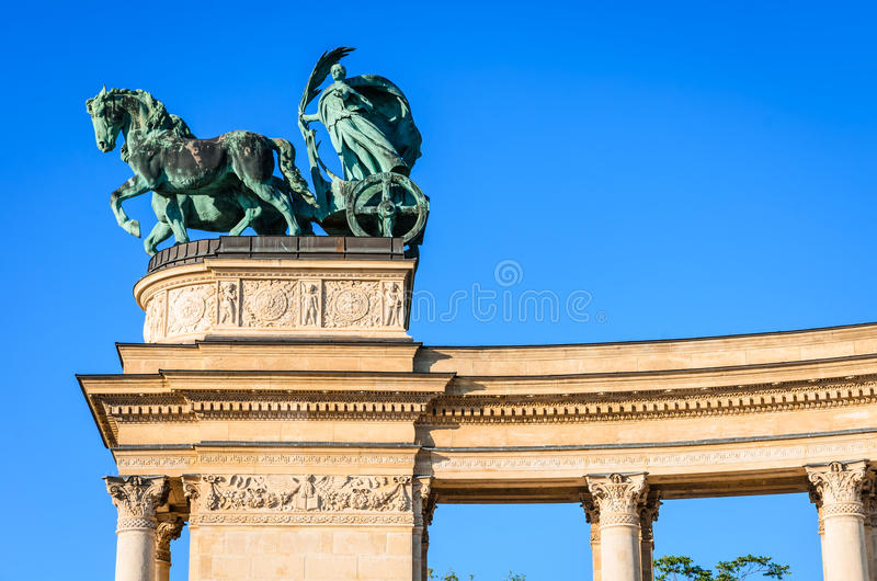 Heroes' Square in Budapest, Hungary stock photography