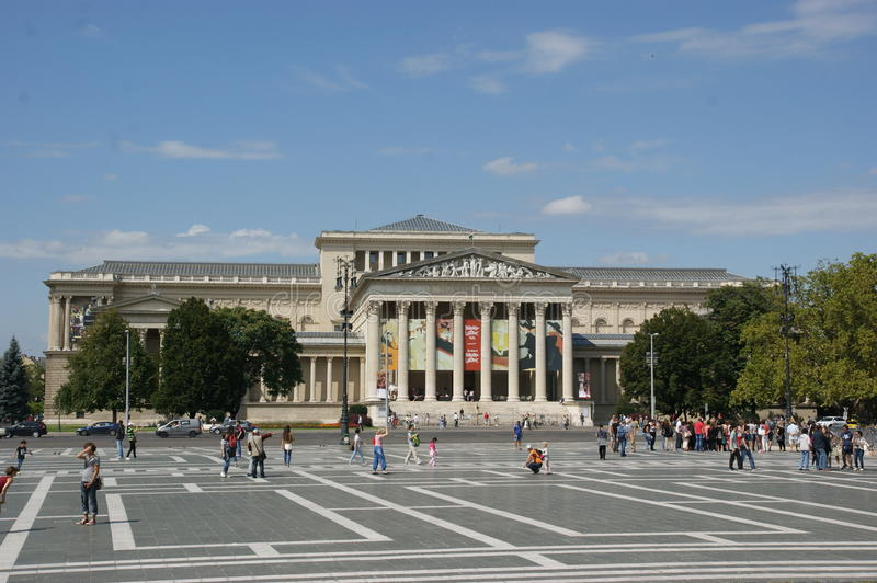 Heroes Square Budapest royalty free stock photos