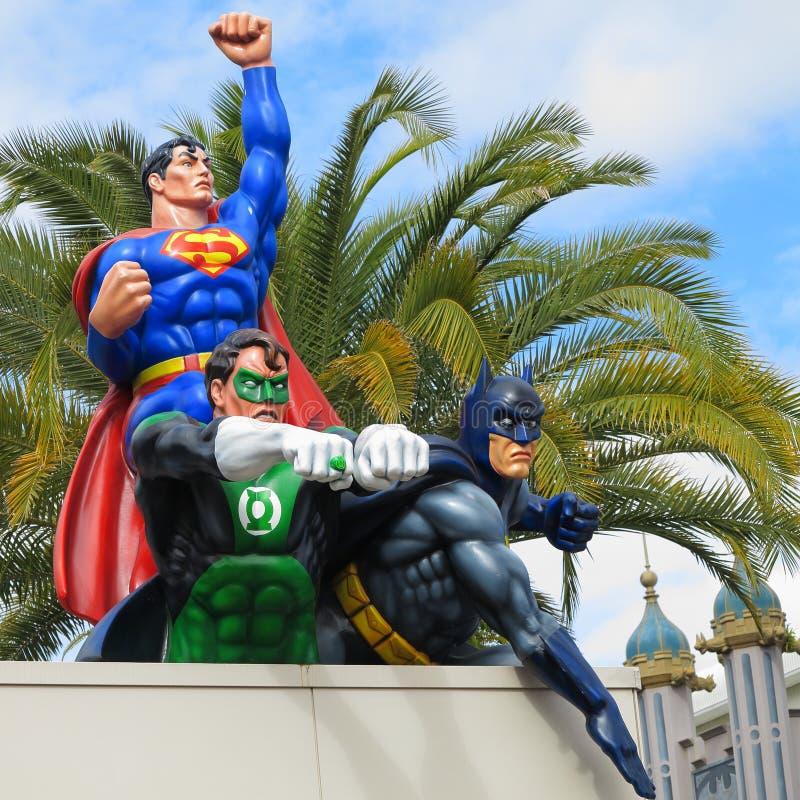 Three Fictional Characters Superman Green Lantern And Batman Superheroes