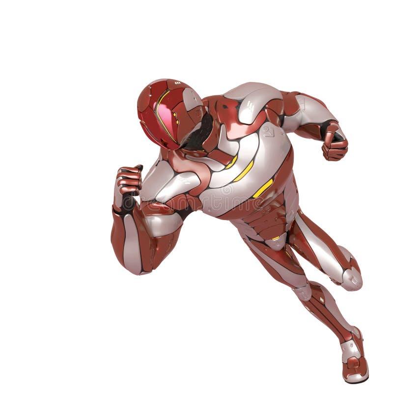 Heroiskt ink?rt f?r Sci fi astronauttecknad film en vit bakgrund vektor illustrationer