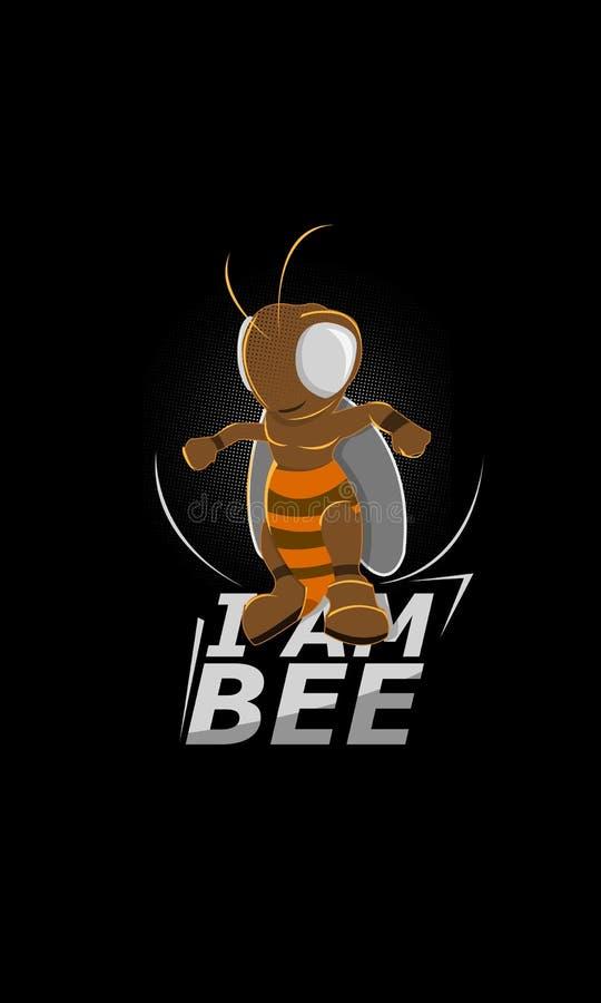 Heroiskt - jag är ett bi, toppet bi vektor illustrationer