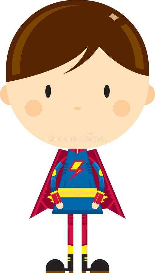 Heroiskt Superherotecken för gullig tecknad film stock illustrationer