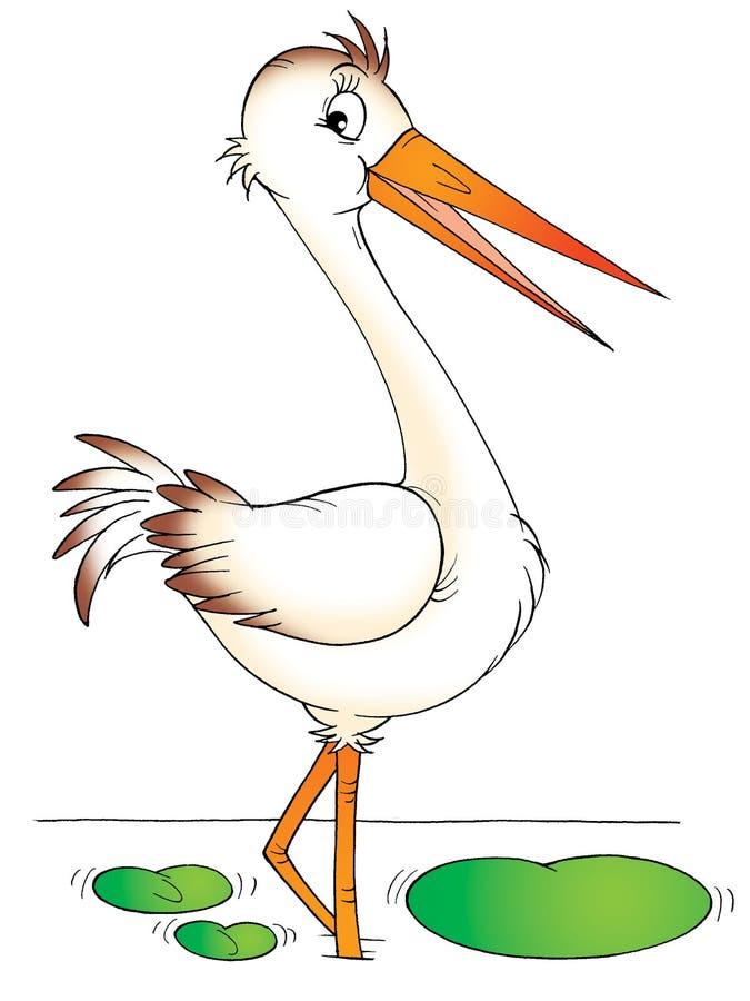 heron royaltyfri illustrationer