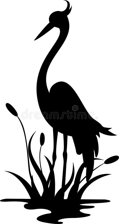 Free Heron Silhouette For You Design Stock Images - 30892394