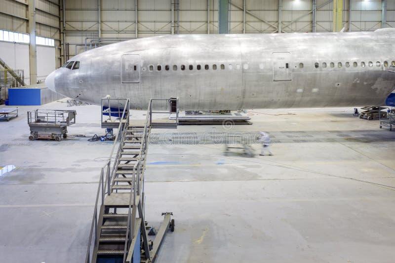 Heropfrissing van een vliegtuig stock foto
