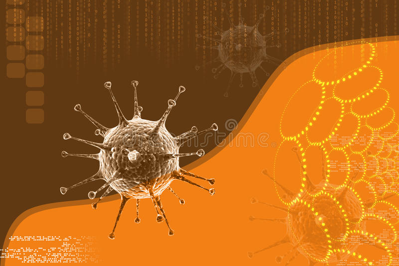 Herpes VIRUS vector illustration