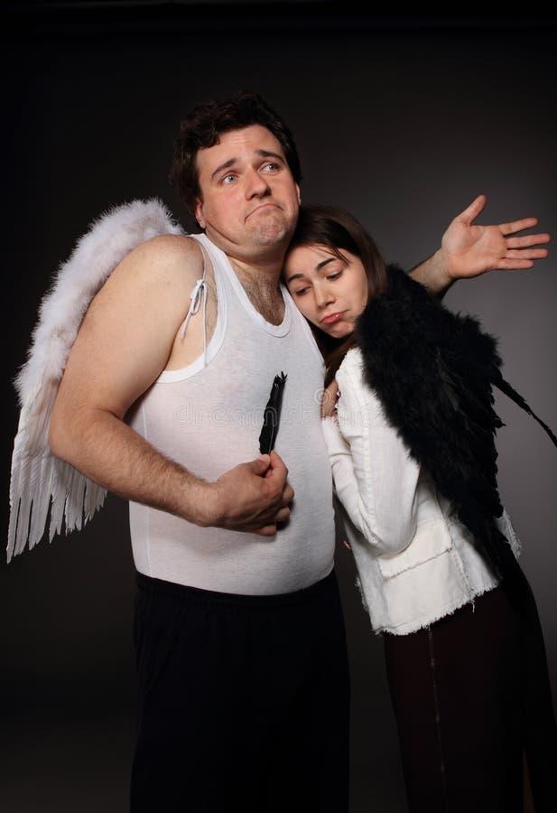 Herr Angel und Mrs Angel lizenzfreie stockfotografie