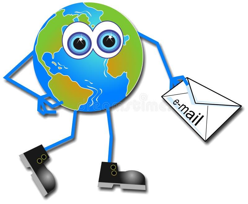 Download Herr Global stock abbildung. Illustration von technologie - 42016
