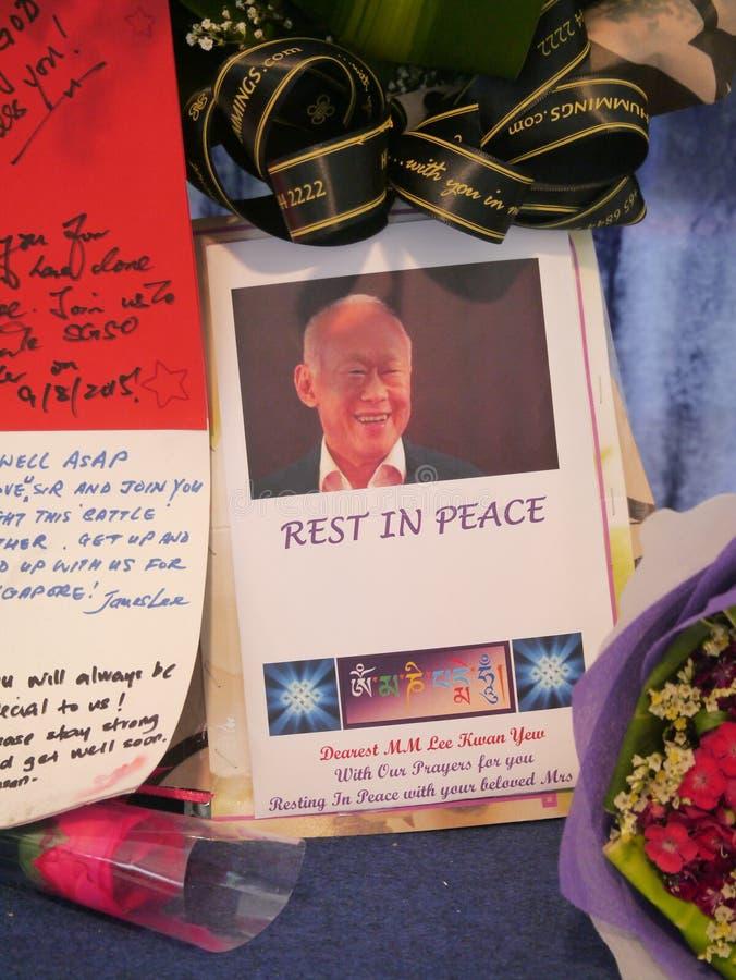 Herr Lee Kuan Yew (16 09 1923 - 23 03 2015) royaltyfria bilder