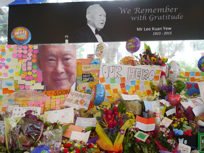 Herr Lee Kuan Yew (16 09 1923 - 23 03 2015) royaltyfria foton