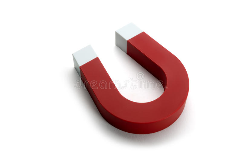 Herradura del imán Color rojo imagen de archivo libre de regalías