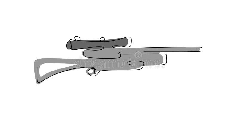 herramienta continua del dibujo lineal para el tiroteo del francotirador libre illustration