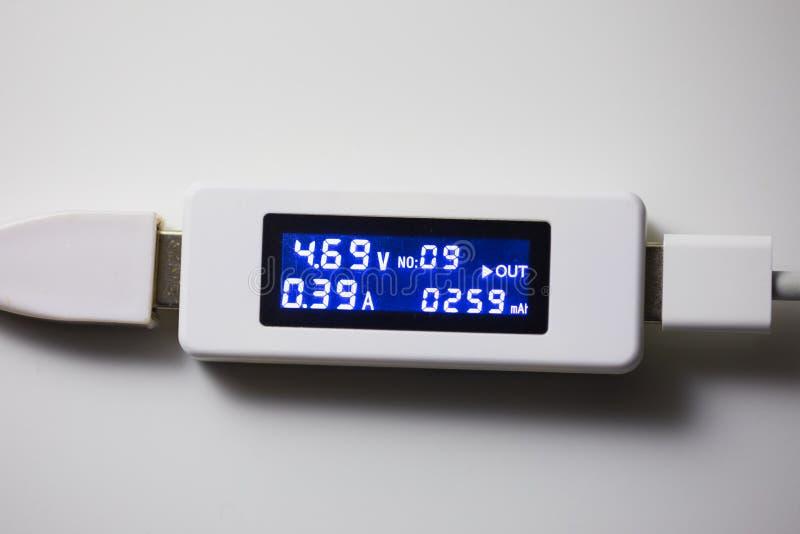 Herramienta de diagnóstico del probador de la batería foto de archivo libre de regalías