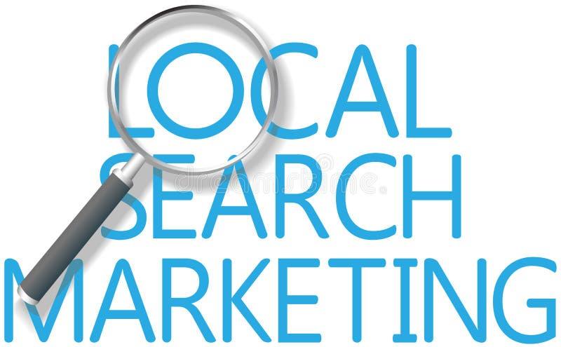Herramienta de márketing local de la búsqueda del hallazgo ilustración del vector