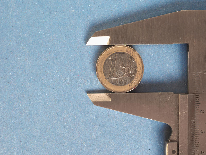 Herramienta de medición del calibrador foto de archivo